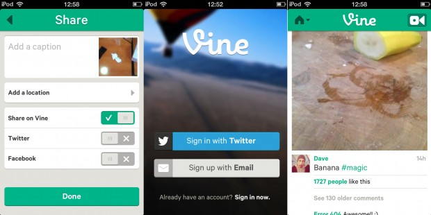 video sharing app Vine