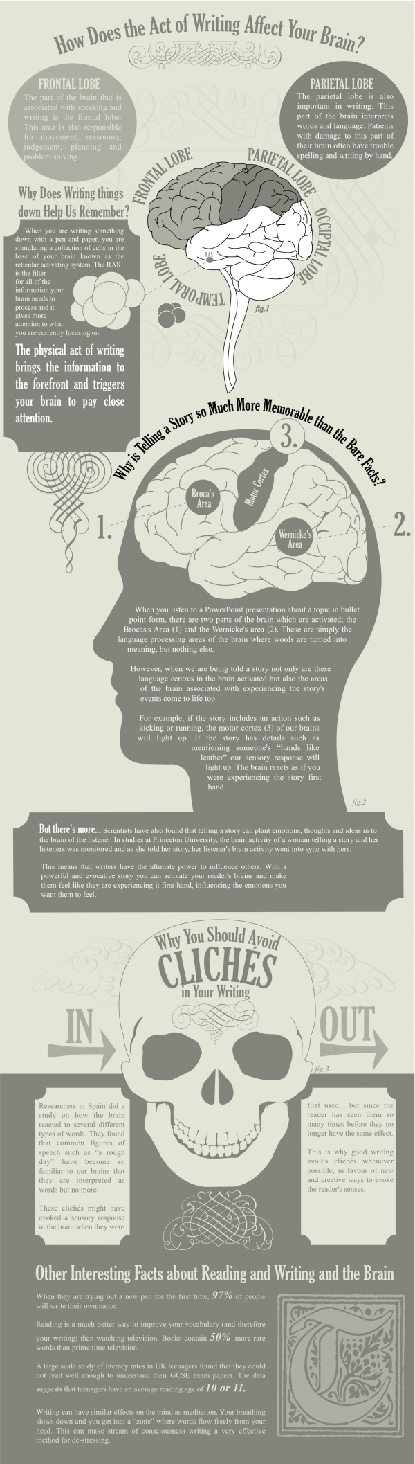 Amazing Facts about Writing and the Brain