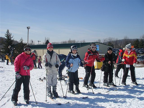 ski with friends