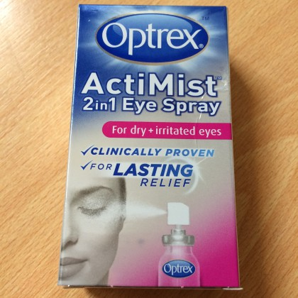 Review: Optrex Actimist 2 in 1 Eye Spray